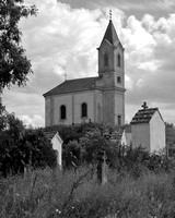 Hungarian Country Church B&W