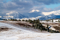 Snow Road On The Rocky Mountain Front, Montana